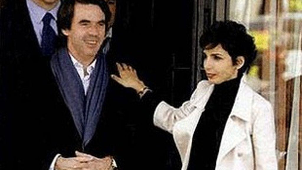 José María Aznar y Rachida Dati.