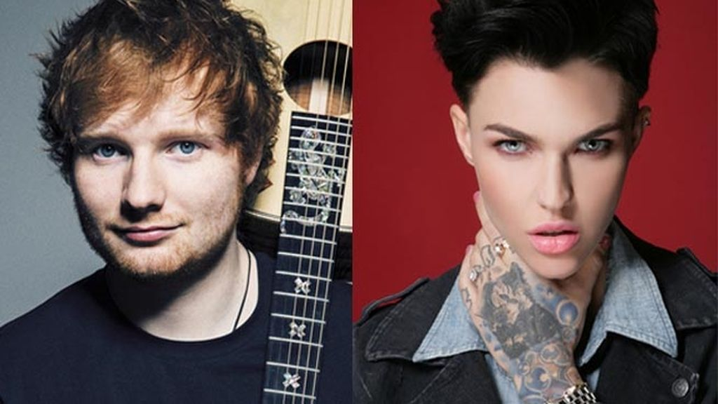 Ed Sheeran y Ruby Rose