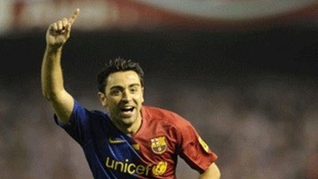 Xavi, centrocampista del Barça.