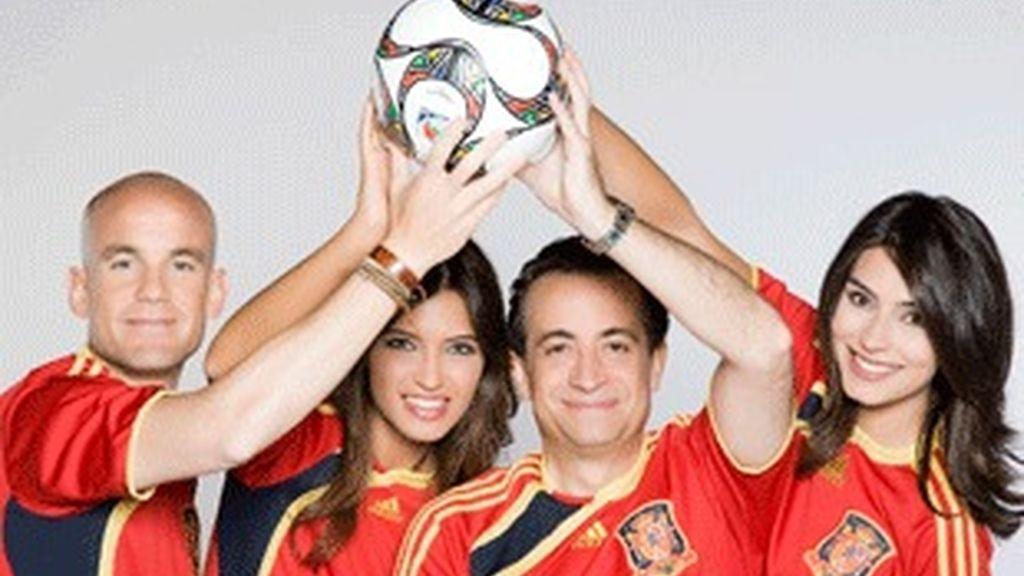 Equipo de Telecinco para la Copa Confederaciones.