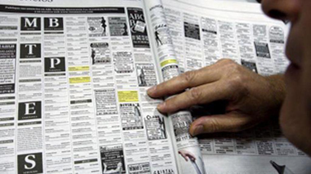 Página de contactos de un periódico.