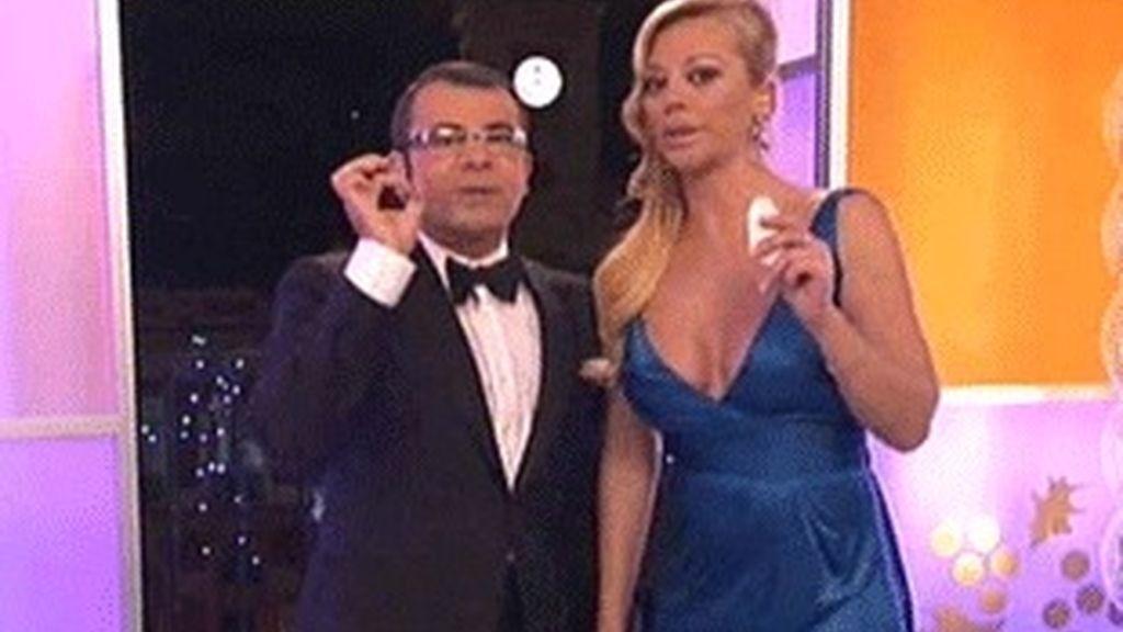 Jorge Javier Vázquez y Belén Esteban, presentadores de las Campanadas en Telecinco.