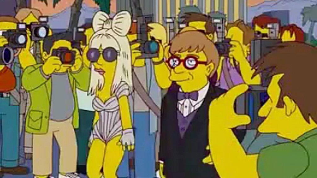 Lady Gaga y Elton John desfilaron en 'Los Simpson'