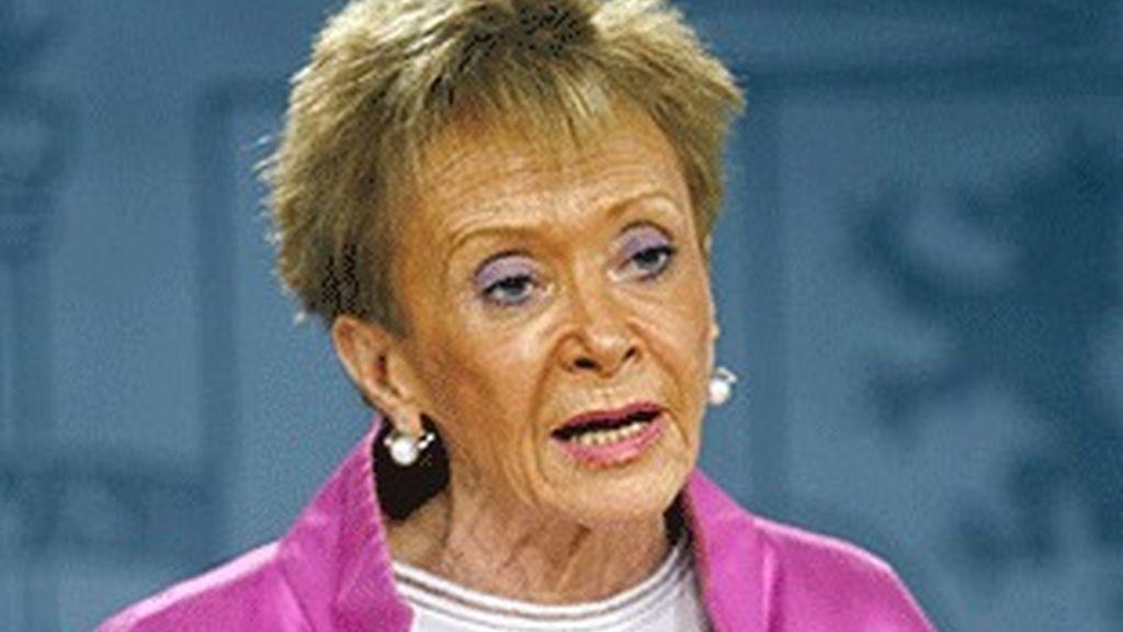 María Teresa Fernández de la Vega, vicepresidenta del Gobierno.