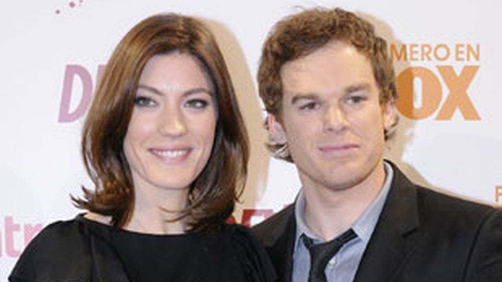 Michael C. Hall y Jennifer Carpenter, actores de 'Dexter'.
