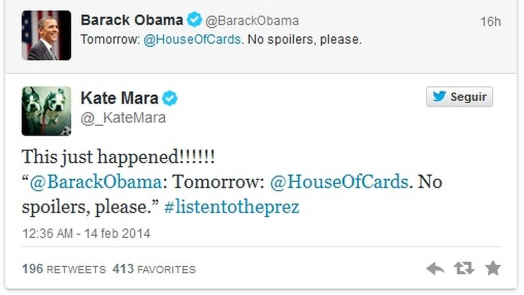 Obama y 'House of cards'