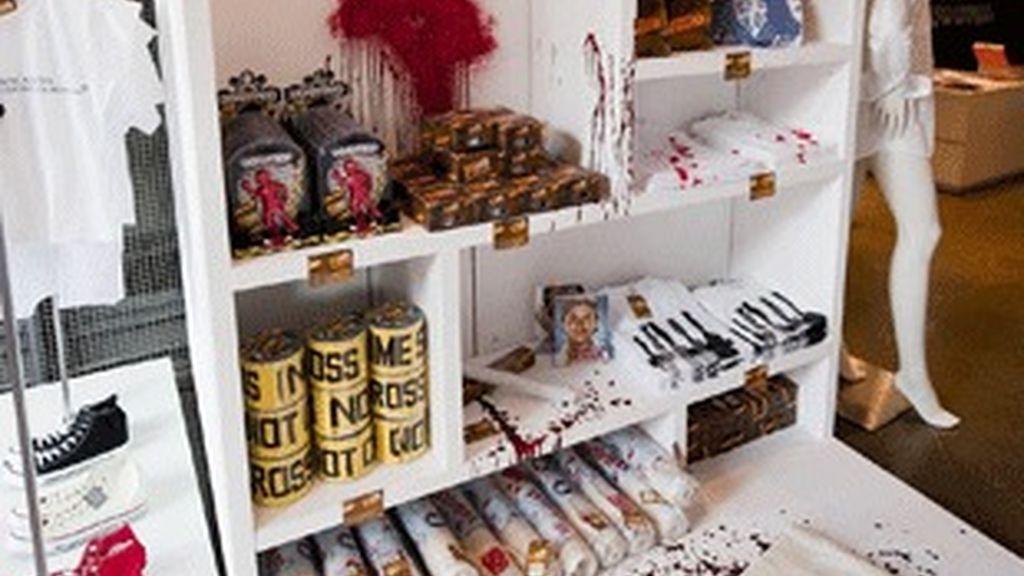 El 'stand' con los productos de 'Dexter'