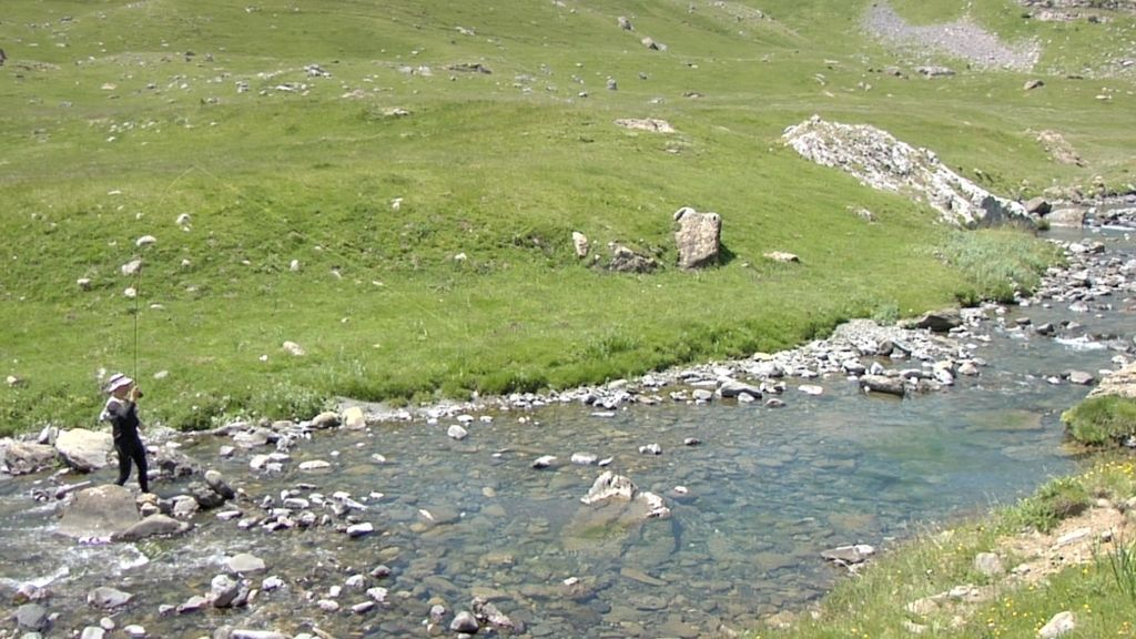 Horas de río en las altas montañas