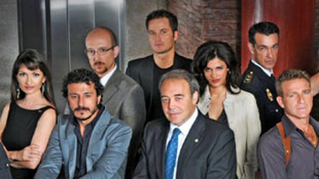 Protagonistas de 'El Comisario' (Telecinco).