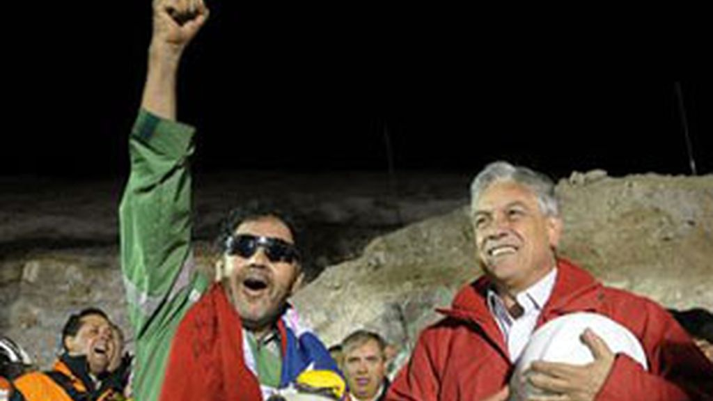Rescate de los mineros chilenos.