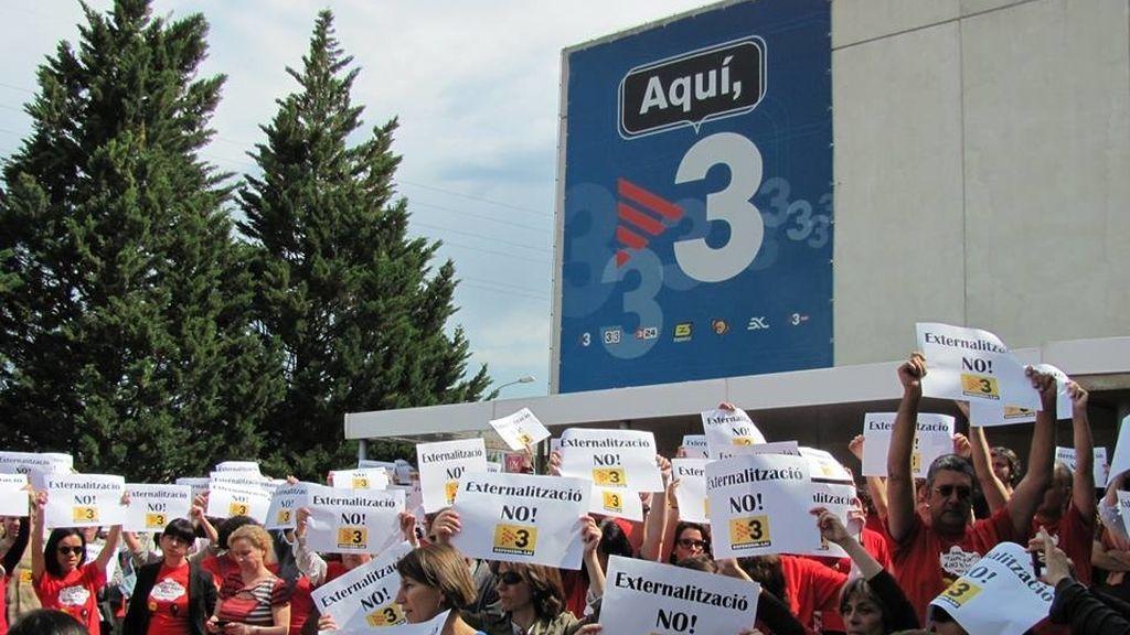 Los trabajadores de TV3 y Catalunya Ràdio convocan una huelga de 12 horas