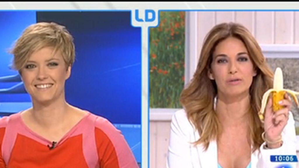 Mariló Montero se come un plátano en 'La mañana de TVE' para apoyar a Dani Alves