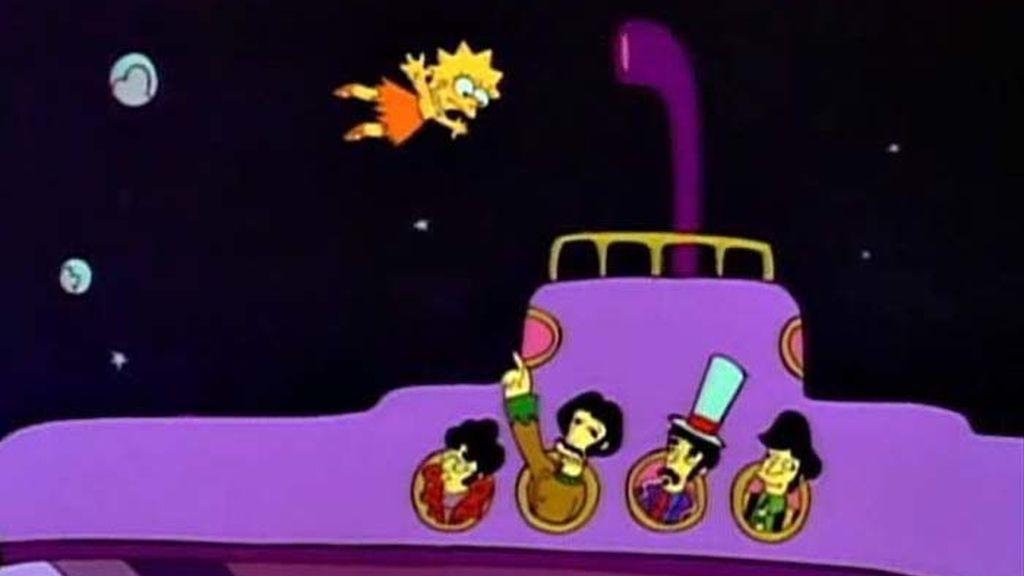 Lisa se encuentra con Los Beatles en un sueño psicodélico