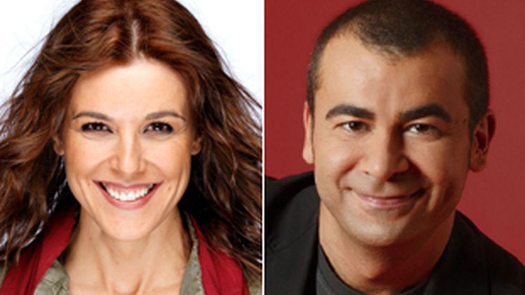 Raquel Sánchez Silva y Jorge Javier Vázquez.
