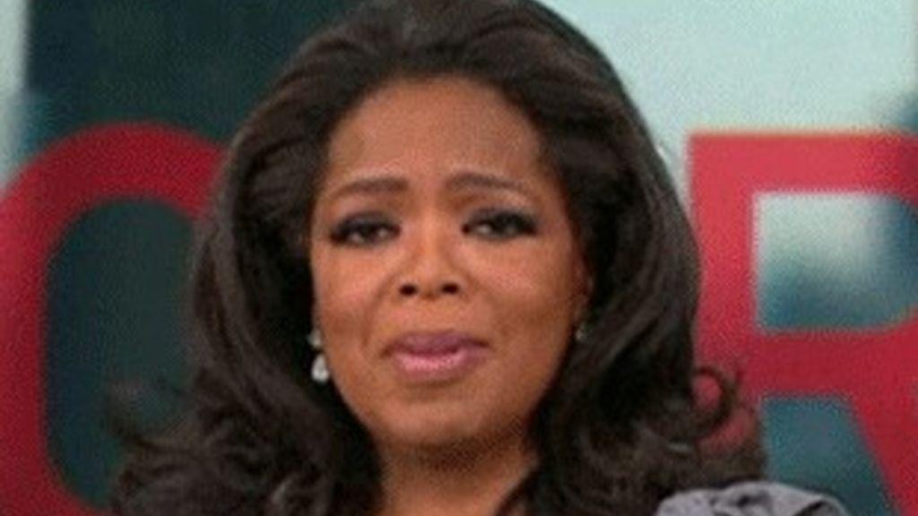 Oprah Winfrey, en su despedida.