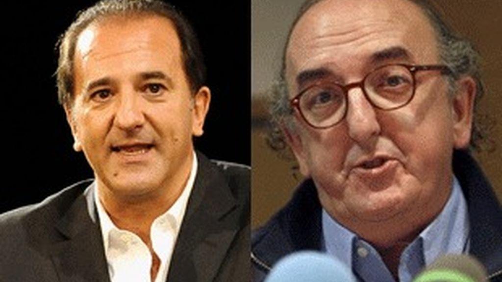 José Miguel Contreras, consejero delegado de La Sexta (izquierda), y Jaume Roures, presidente de Mediapro.