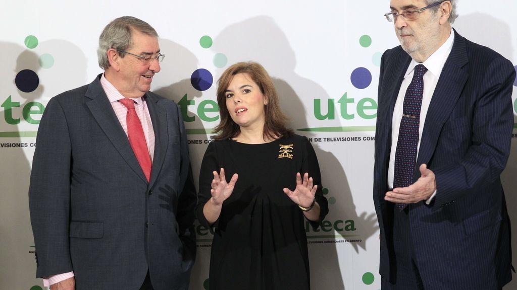 Soraya Sáenz de Santamaría en la jornada anual de Uteca