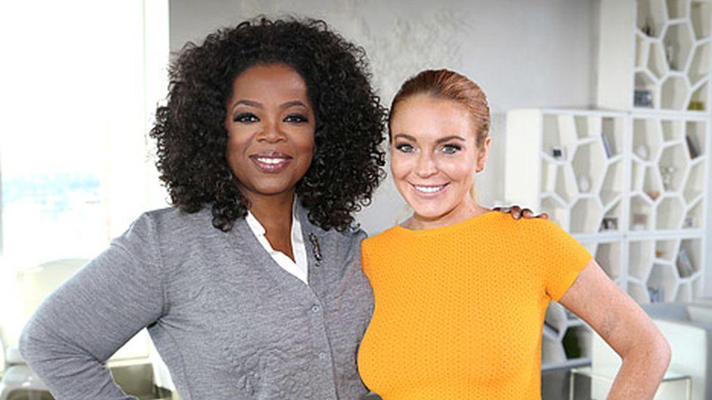 Oprah Winfrey y Lindsay Lohan
