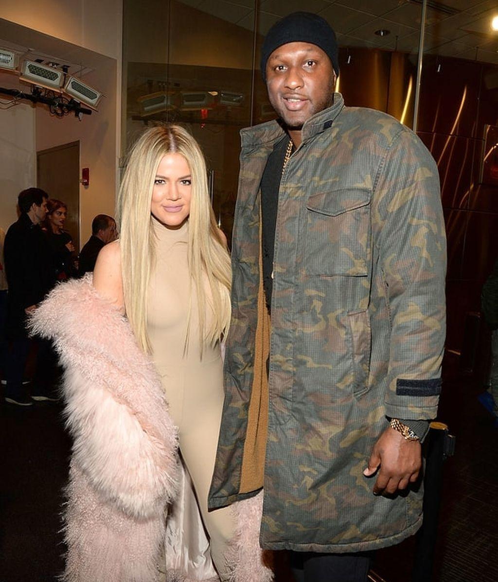 Lamar Odom con su exesposa, Khloé Kardashian