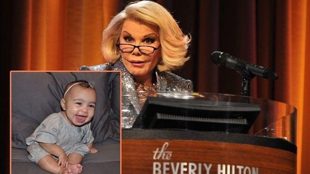 """La presentadora Joan Rivers llama """"fea"""" a la pequeña North West"""