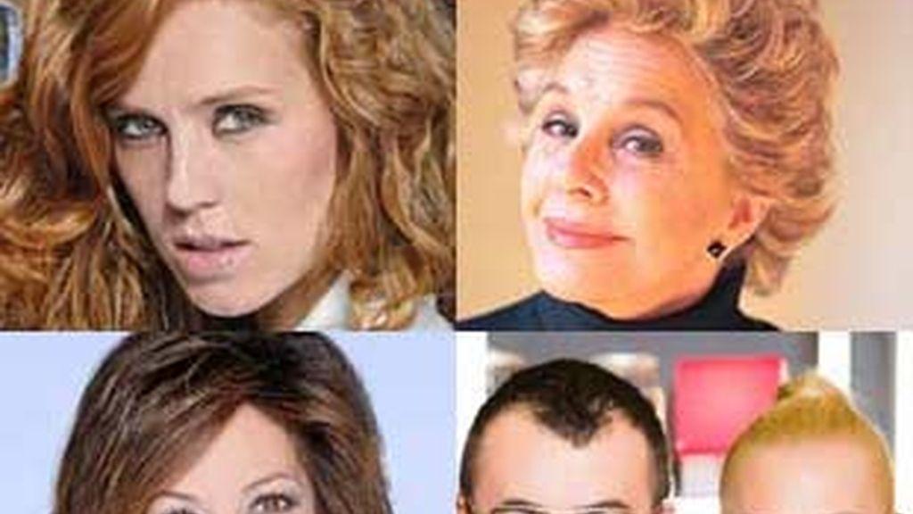 De izq. a der. y de arriba a abajo: María Castro, Lola Herrera, Ana Rosa Quintana, Jorge Javier Vázquez y Belén Esteban.