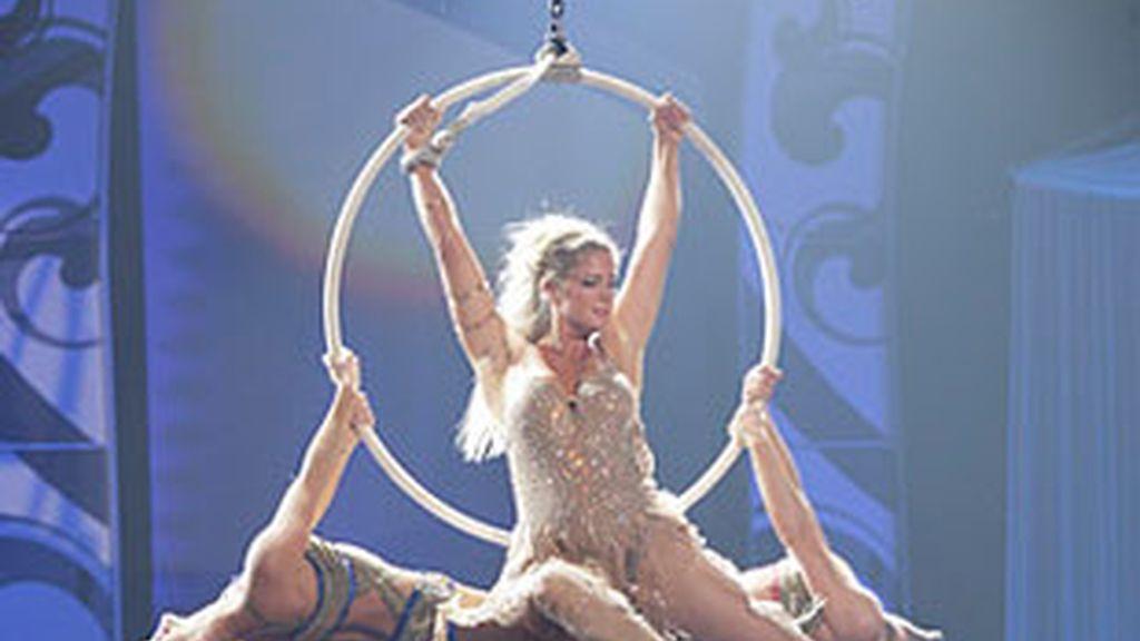 Rachel Hunter, en 'Celebrity Circus', de NBC.