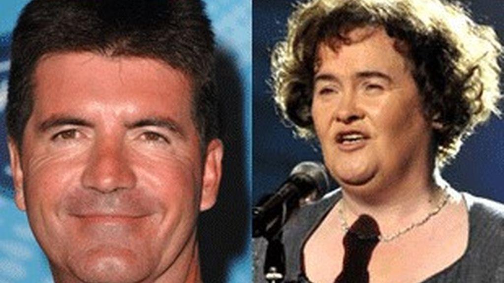 Simon Cowell y Susan Boyle.