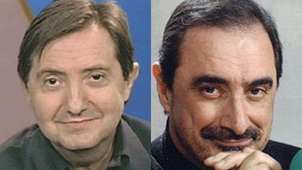 Federico Jiménez Losantos (izquierda) y Carlos Herrera.