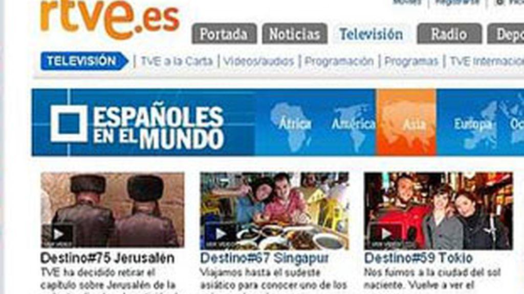Página del programa en la web de TVE.