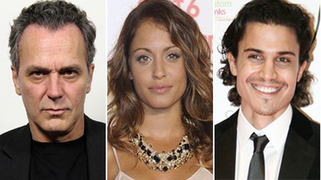 Jose Coronado, Hiba Ahauk y Álex González, en 'El Príncipe'
