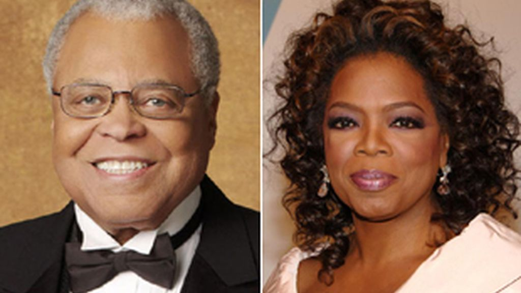 James Earl Jones y Oprah Winfrey.