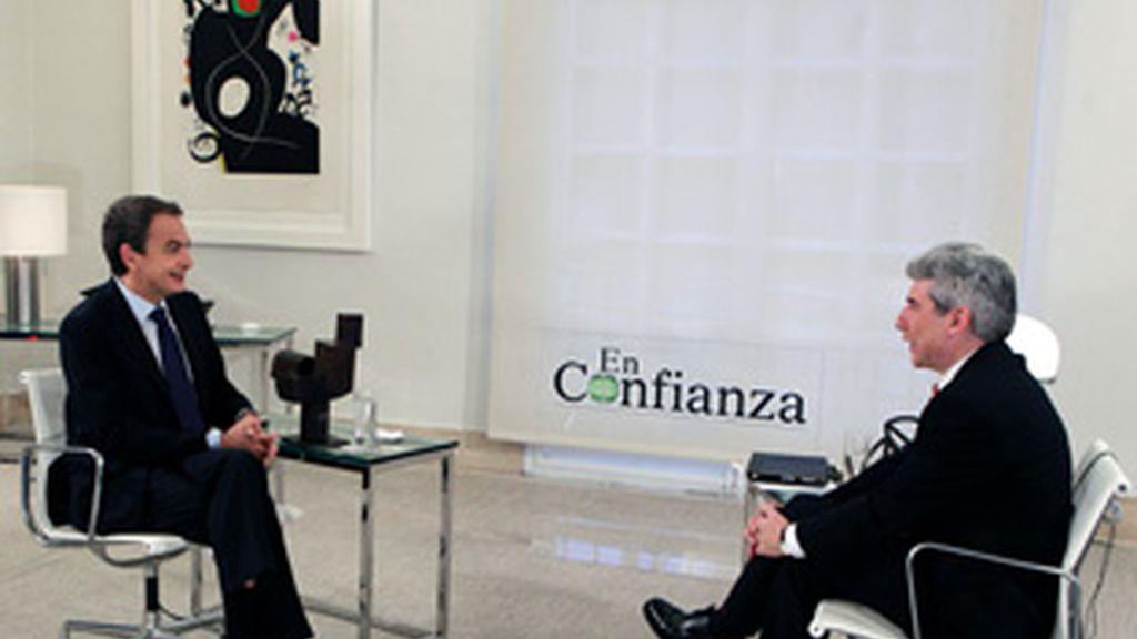 José Luis Rodriguez Zapatero en el programa 'En confianza', de Veo Tv.