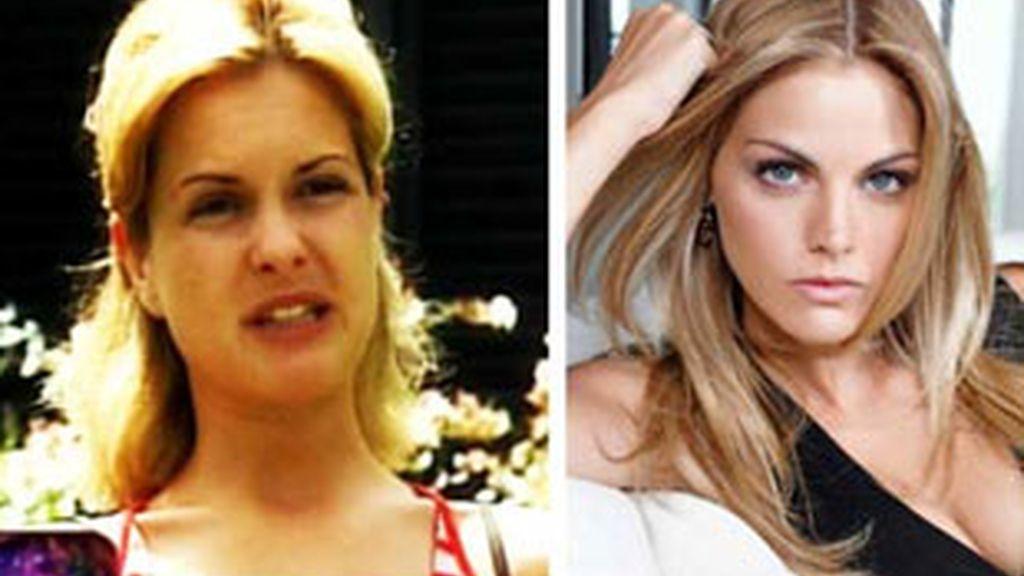A la izquierda, Marta Chamorro, protagonista de 'El precio del paraíso'. A la derecha, Amaia Salamanca, Cata en 'Sin tetas no hay paraíso'.