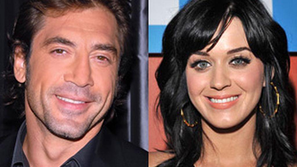 Javier Bardem (izquierda) y Katy Perry (derecha).