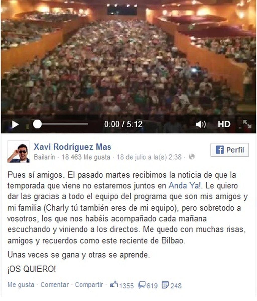Xavi Rodríguez Facebook