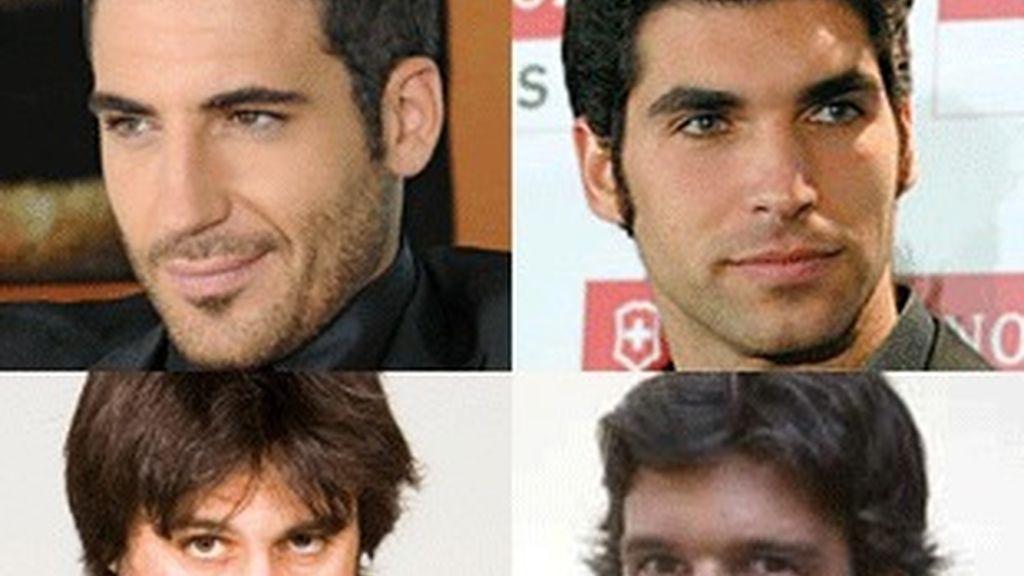 De izquierda a derecha: Miguel Ángel Silvestre, Cayetano Rivera, Hugo Silva, Rafael Medina.