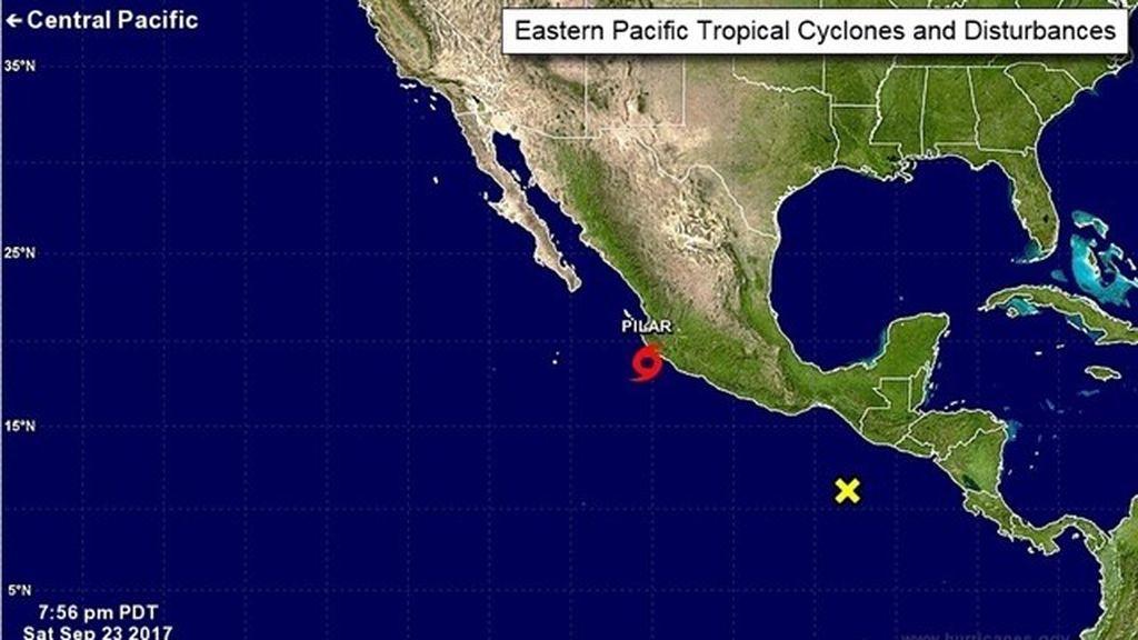 La tormenta tropical 'Pilar' se forma frente a la costa mexicana en el Pacífico