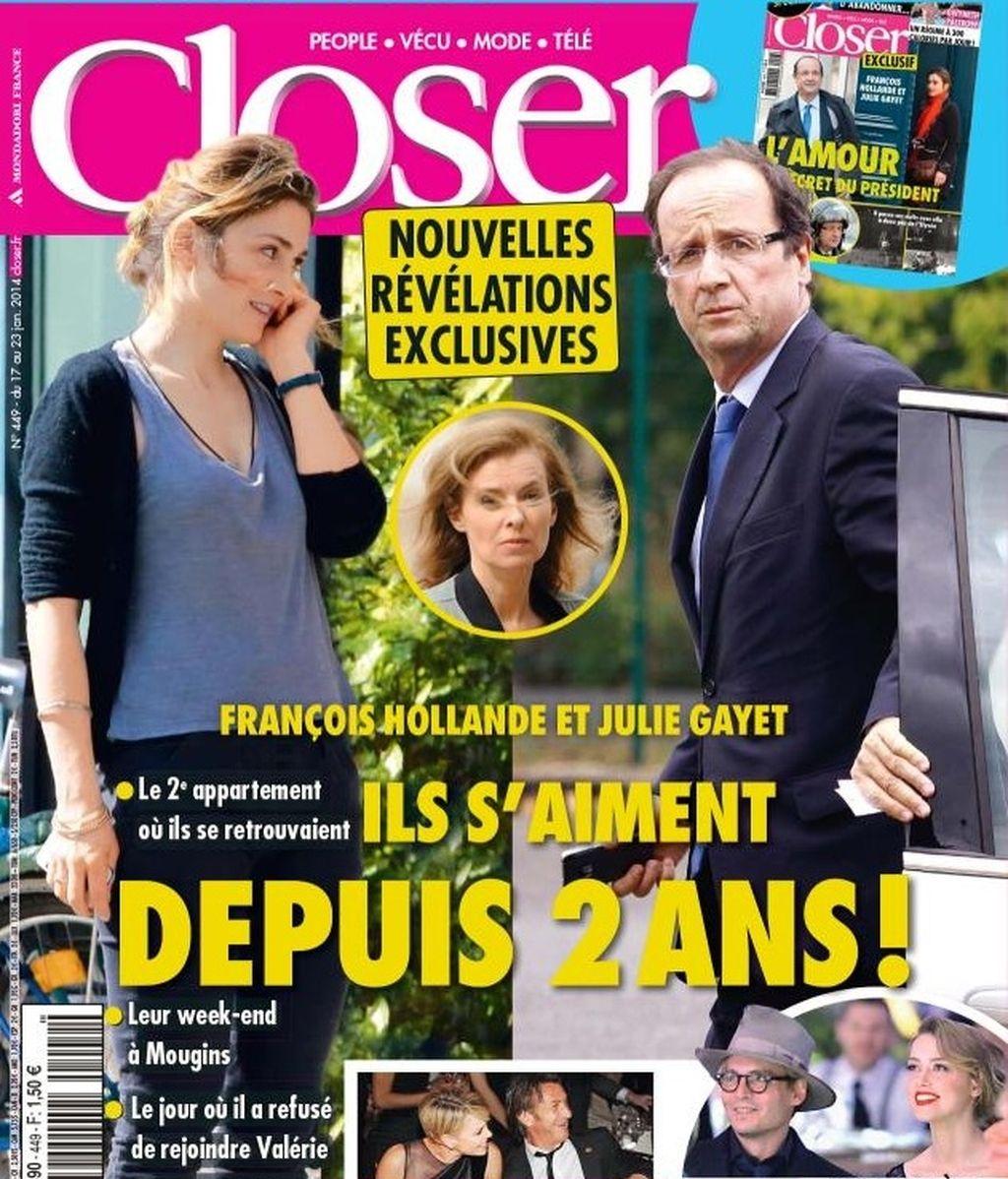 'Closer' afirma que Hollande y Julie Gayet llevan dos años juntos