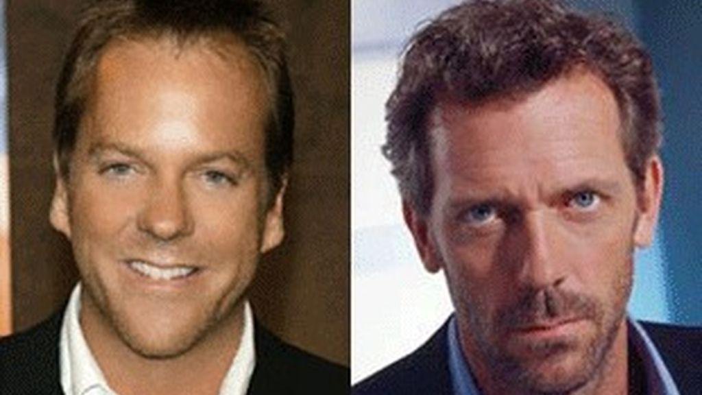 Los actores Kiefer Sutherland (izquierda), protagonista de '24' y Hugh Laurie, el doctor House.
