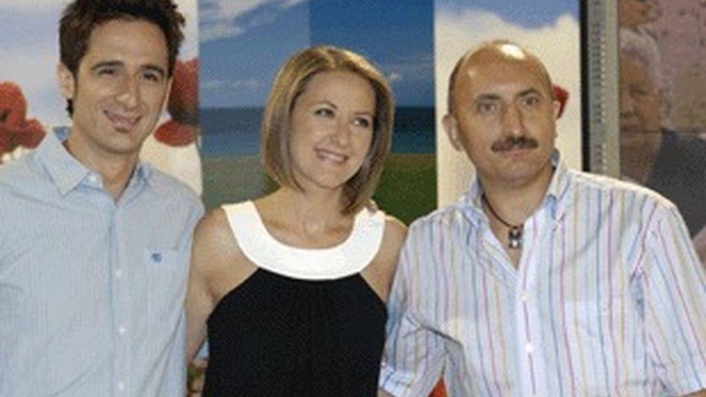 Javier Gallego, Inmaculada Galván y Alipio Gutiérrez