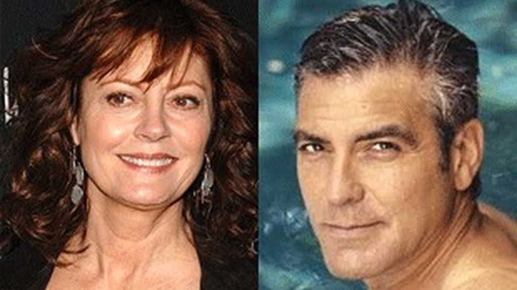 Susan Sarandon y George Clooney.