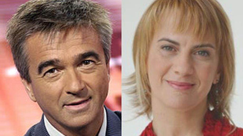 Carles Francino, izquierda, y Gemma Nierga, derecha.