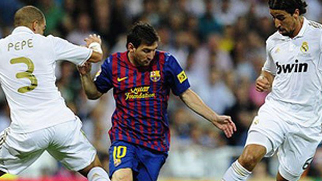 Partido de la Supercopa entre el Barça y el Real Madrid.