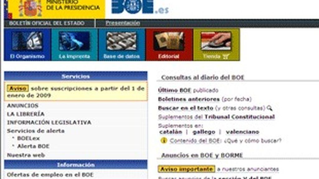Versión digital del BOE.