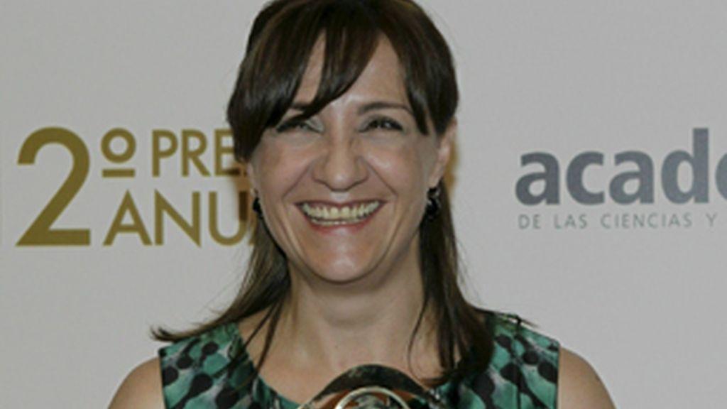 Blanca Portillo, con el premio a la mejor actriz.
