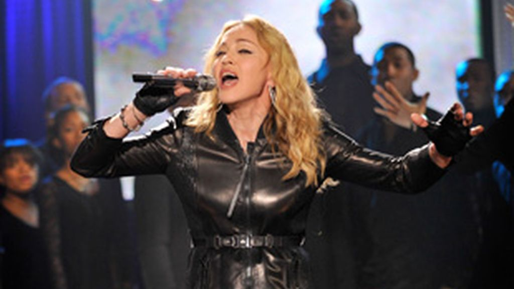 Madonna en un concierto solidario de apoyo a Haití.