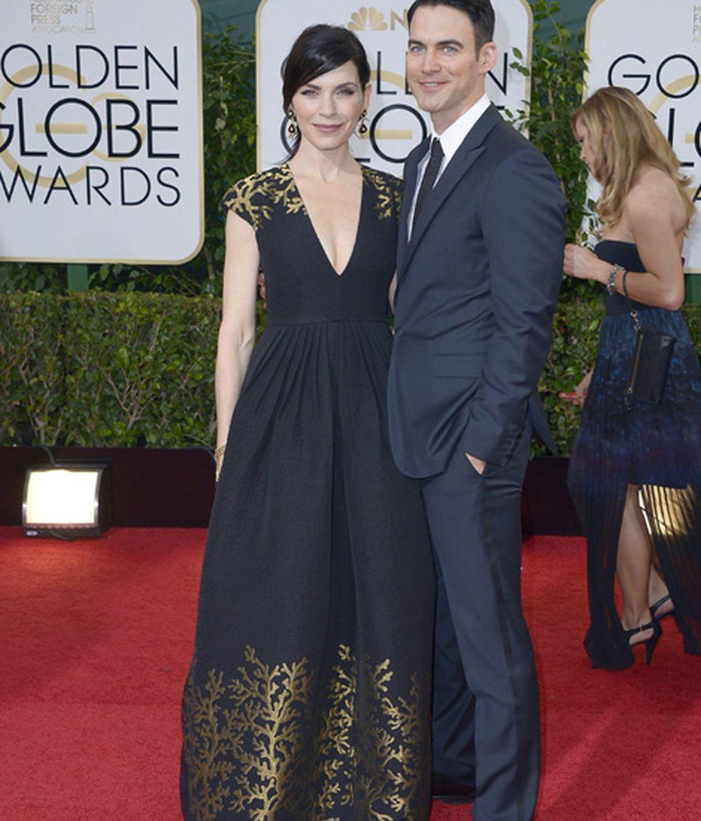 Julianna Margulies, nominada a mejor actriz en serie dramática por 'The good wife', y su esposo, Keith Lieberthal