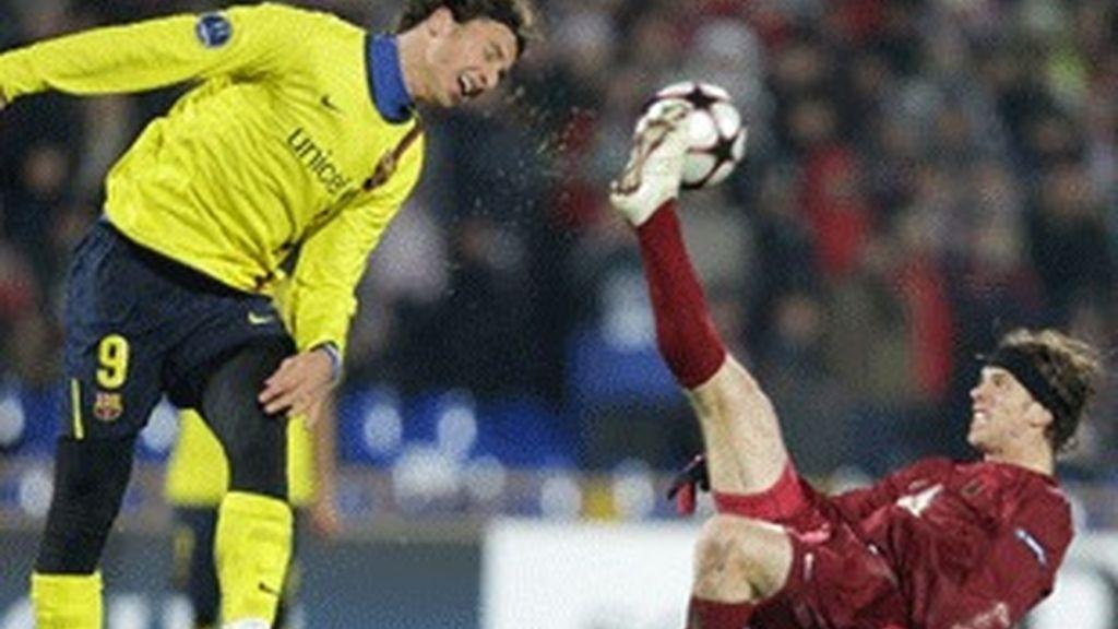 Partido del Barça en la Champions que el pasado miércoles ofrecieron las autonómicas.