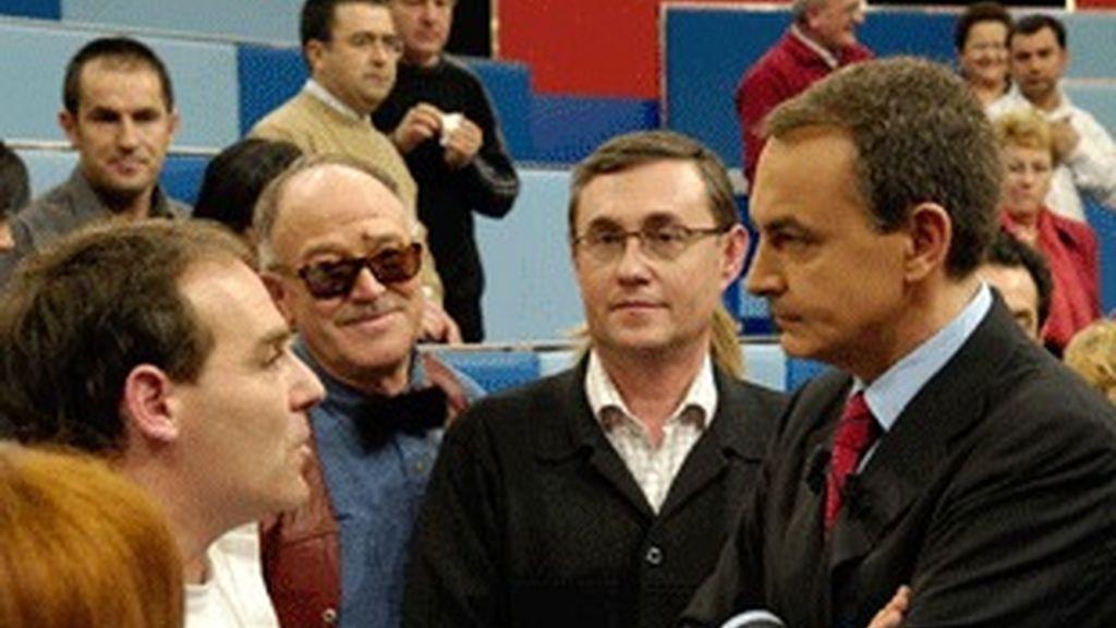 José Luis Rodríguez Zapatero, en 'Tengo una pregunta', programa más visto de enero.