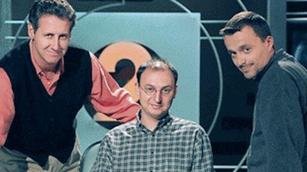 Lorenzo Milá, Fran Llorente y Fernando Navarrete, hace 15 años.